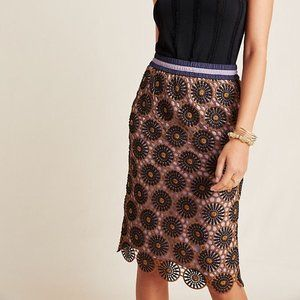 Anthropolgoie Current Air Lace Floral Skirt